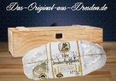 Original Dresdner Christstollen kaufen Sie bei uns von Meisterhand gebacken nur echt mit dem Siegel